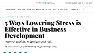 Lowering Stress is Effective in Business Development